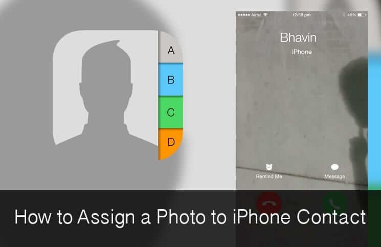 How to Assign Photo to iPhone Contact