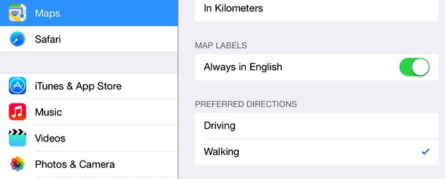How to Change Apple Maps to Show Walking Directions By Default on iPhone and iPad