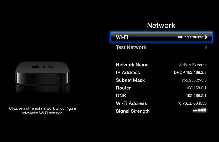 How to Change Wi-Fi Networks on Apple TV