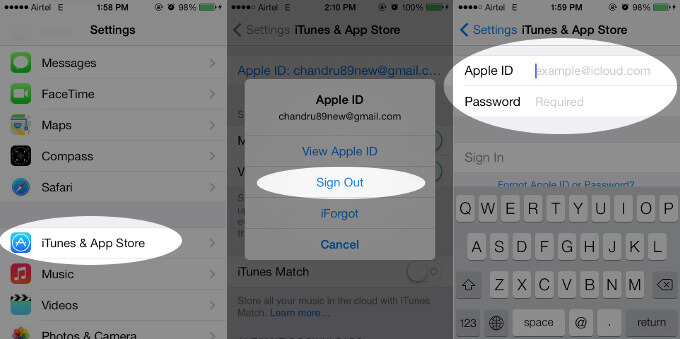 How to Change iTunes and App Store Account on iPhone