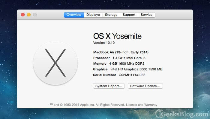 How to Check MacBook and iMac Version and Specifications