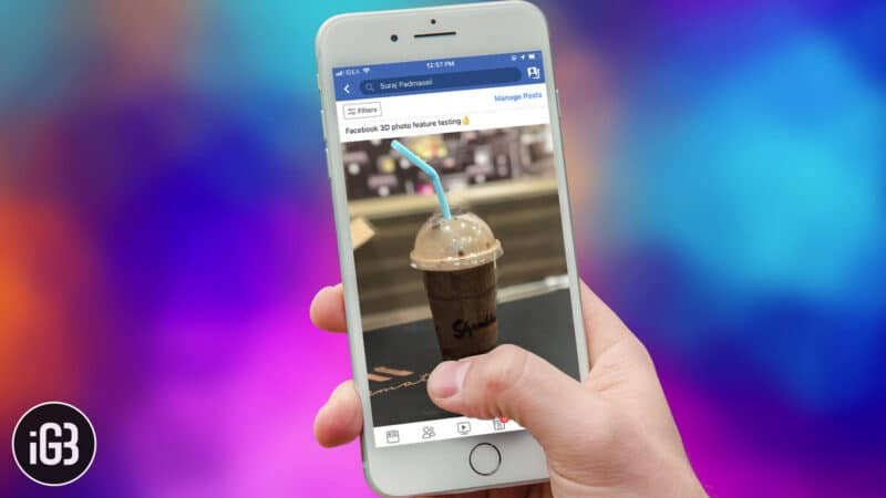 How to Create 3D Photo and Share it on Facebook from iPhone