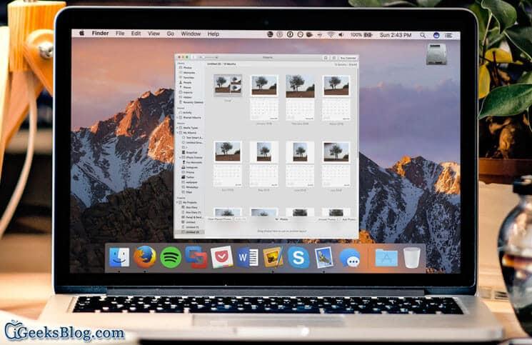 How to Create A Custom Calendar In Photos app on Mac