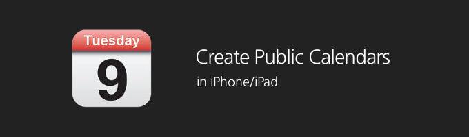 How to Create Public Calendar On iPhone Calendar App