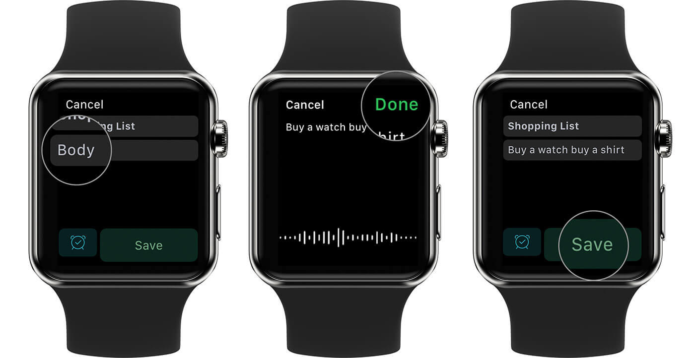 How to Create Text Notes on Evernote from Apple Watch
