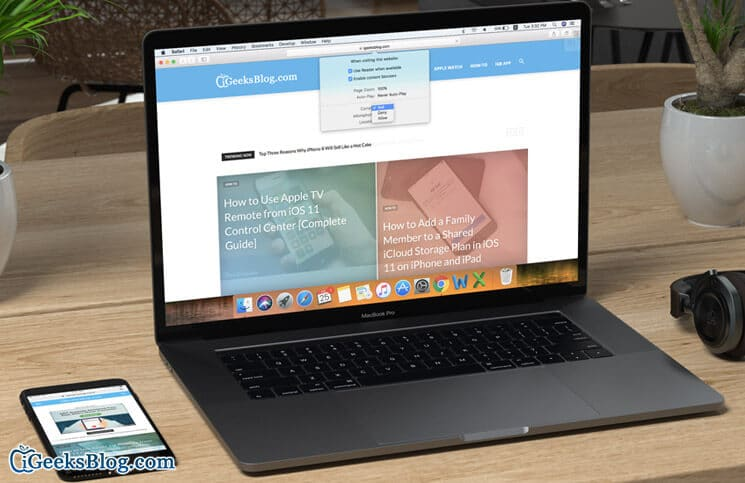 How to Customize Website Settings in Safari in macOS High Sierra on Mac