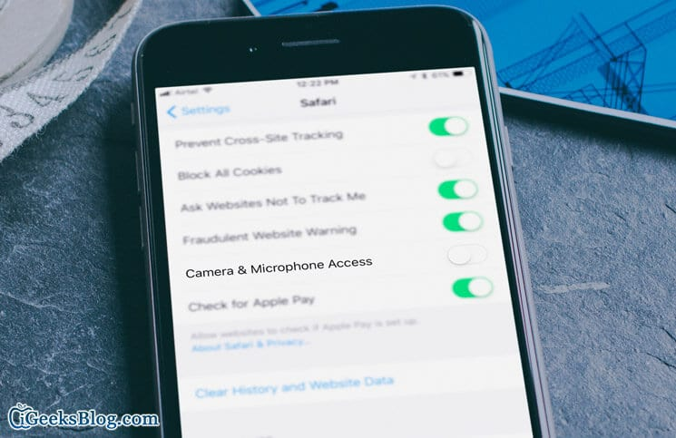 How to Disable Camera and Microphone for Safari in iOS 11 on iPhone and iPad