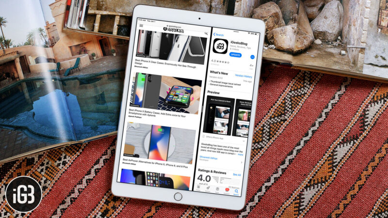 How to Disable Split View and Slide Over Multitasking on iPad