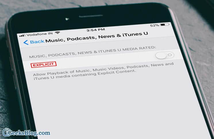 How to Disallow Explicit Music Videos, Podcasts, and News on iPhone and iPad
