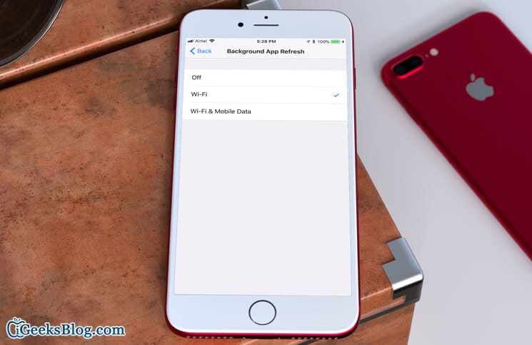 How to Enable Background App Refresh on WiFi in iOS 11 on iPhone or iPad