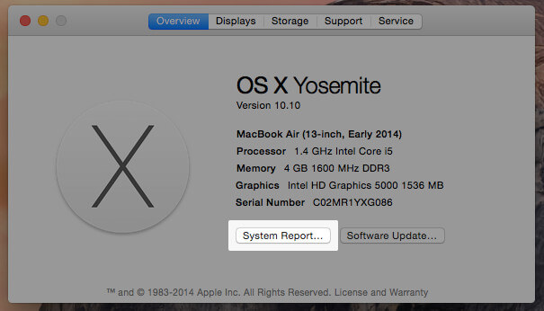 How to Find Bluetooth version of Mac on OS X Yosemite