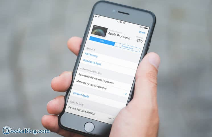 How to Manually Accept Apple Pay Cash on iPhone and iPad