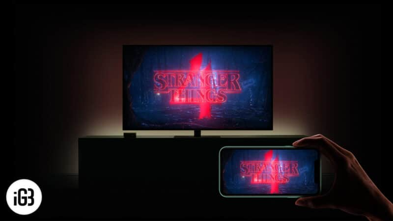 How to Mirror Netflix from iPhone to Smart TV