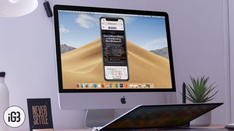 How to Mirror iPhone or iPad Screen to Mac-Windows PC