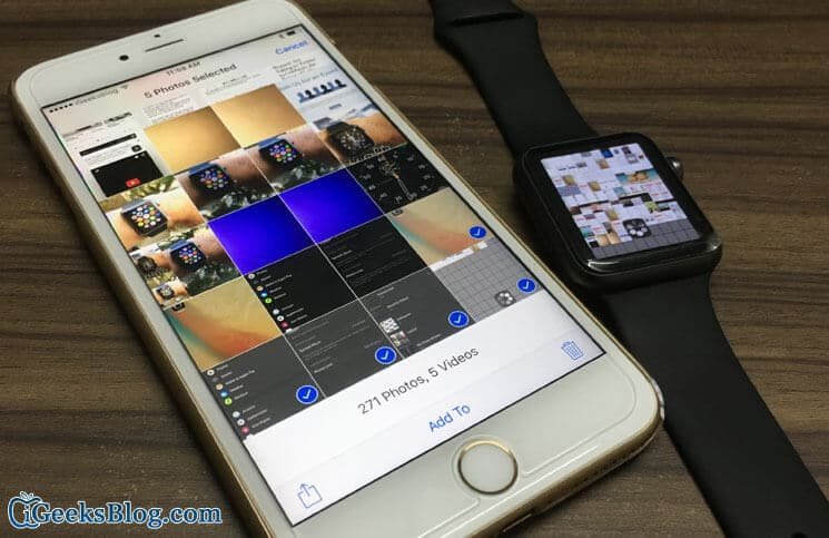 How to Move iPhone Photos to Apple Watch