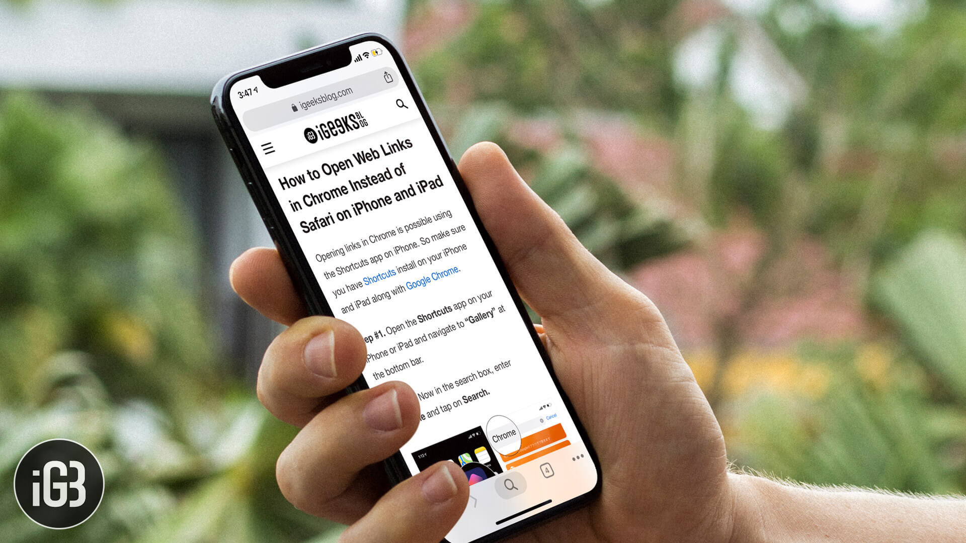 How to Open Links in Chrome on iPhone or iPad