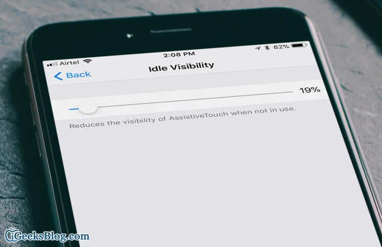 How to Reduce Visibility of AssistiveTouch in iOS 11 on iPhone and iPad