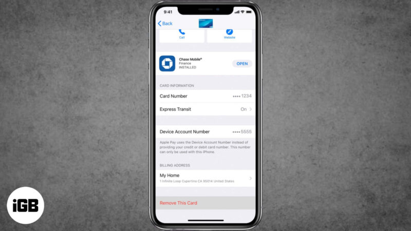 How to Remove Credit Card from Apple Pay