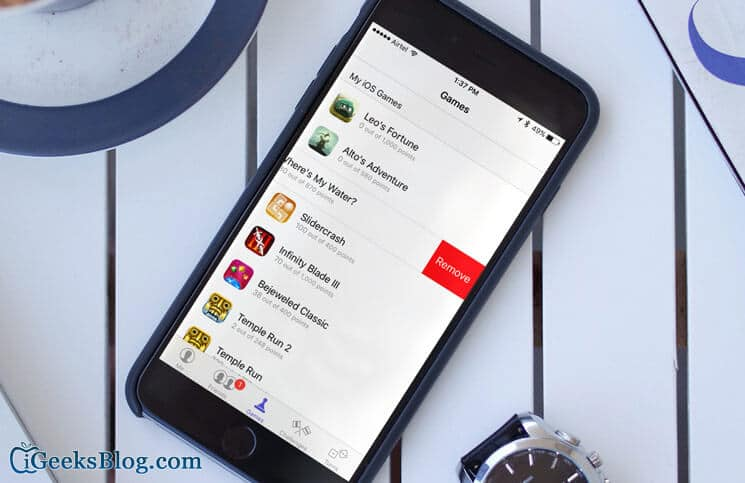 How to Remove Games from iPhone Game Center
