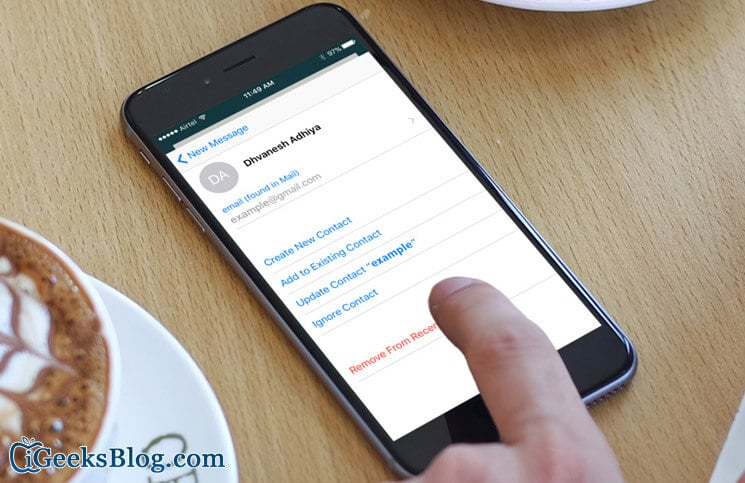 How to Remove Mail Suggestions from iPhone and iPad Mail App