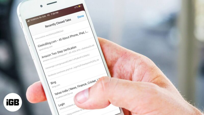 How to Reopen Recently Closed Browser Tabs on iPhone and iPad