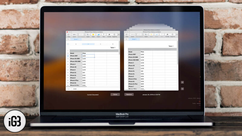 How to Restore Previous Versions of your Files on Mac
