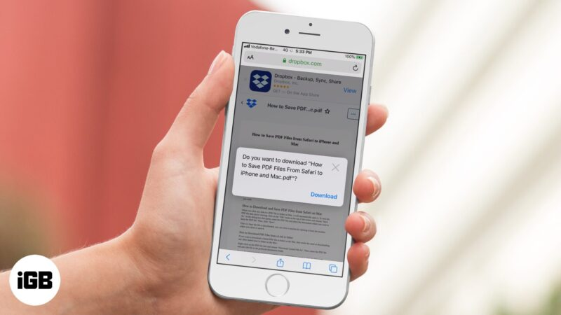 How to Save PDF Files from Safari to iPhone and Mac