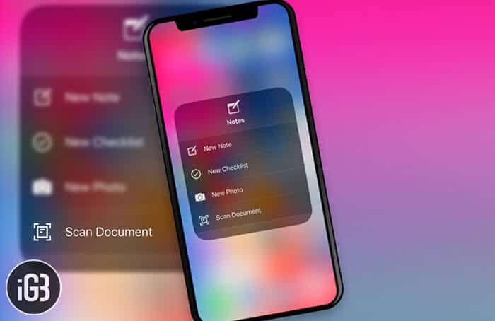 How to Scan Documents from Control Center in iOS 12