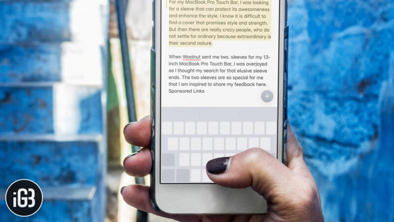 How to Select Text in iPhone Using Keyboard As Trackpad