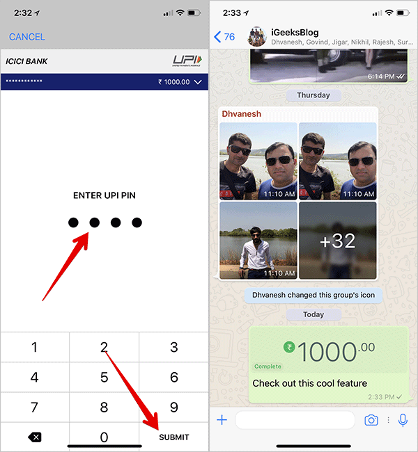 How to Send Money using WhatsApp Group Chats on iPhone or Android