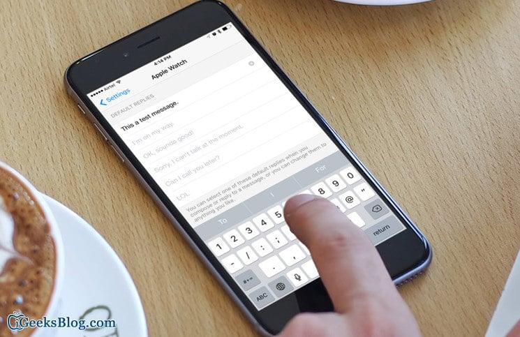 How to Set Custom Replies for Messenger App on Apple Watch