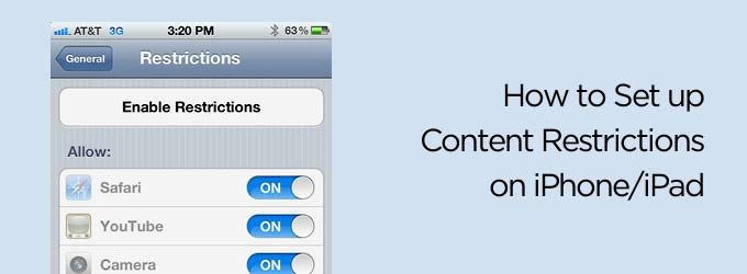 How to Set Up Content Restrictions On iPhone and iPad