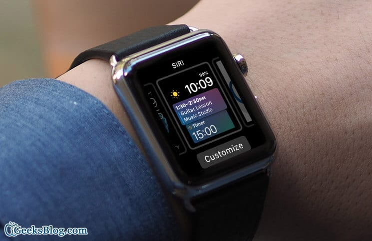 How to Set Up and Customize Siri Watch Face on Apple Watch in watchOS 4