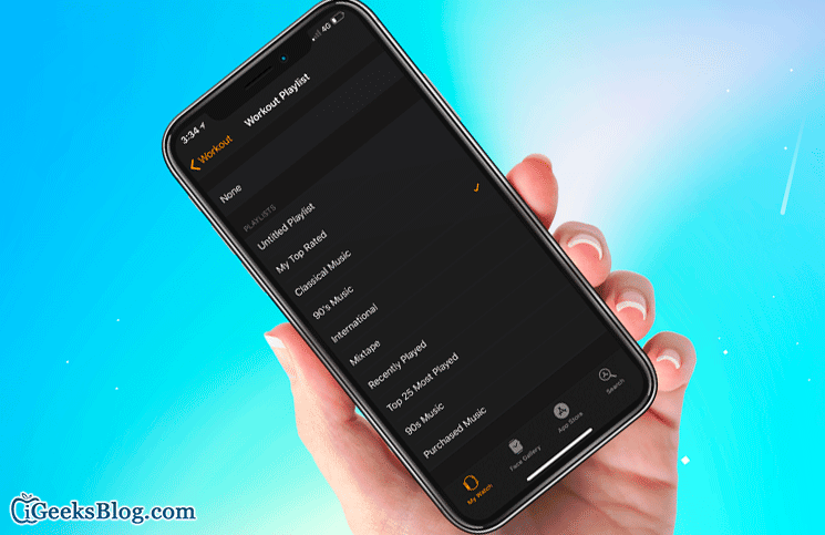 How to Setup Workout Playlist on Apple Watch