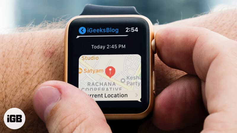How to Share Location from Apple Watch