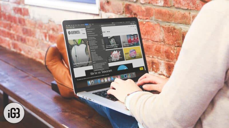 How to Show Develop Menu in Safari on Mac