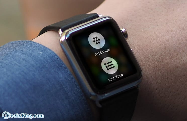 How to Switch Between List View and Grid View on Apple Watch