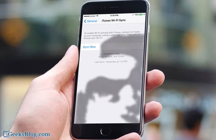 How to Sync iPhone with iTunes Without Cable