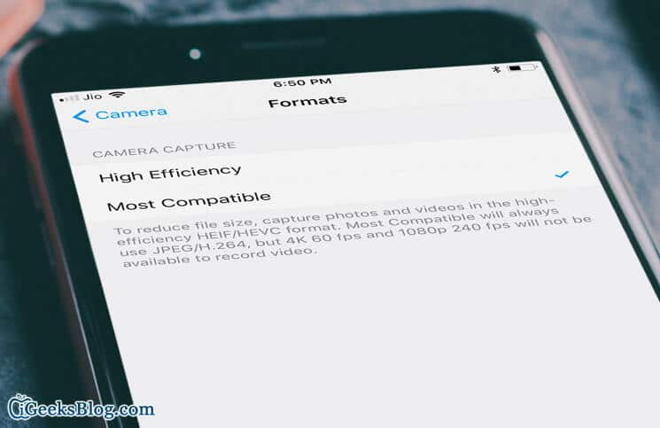 How to Take JPEG Photos Instead of HEIF in iOS 11 on iPhone and iPad