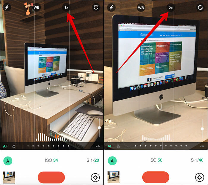 How to Take Photos with Telephotos Lens in Third Party Apps on iPhone 7 Plus