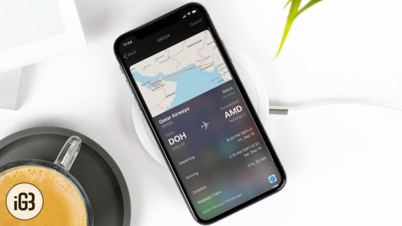 How to Track Flight Status on iPhone or iPad using Spotlight