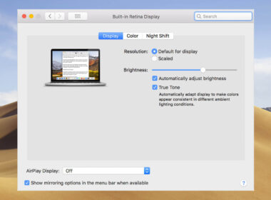 How to Turn OFF and ON True Tone Display on MacBook Pro 2018