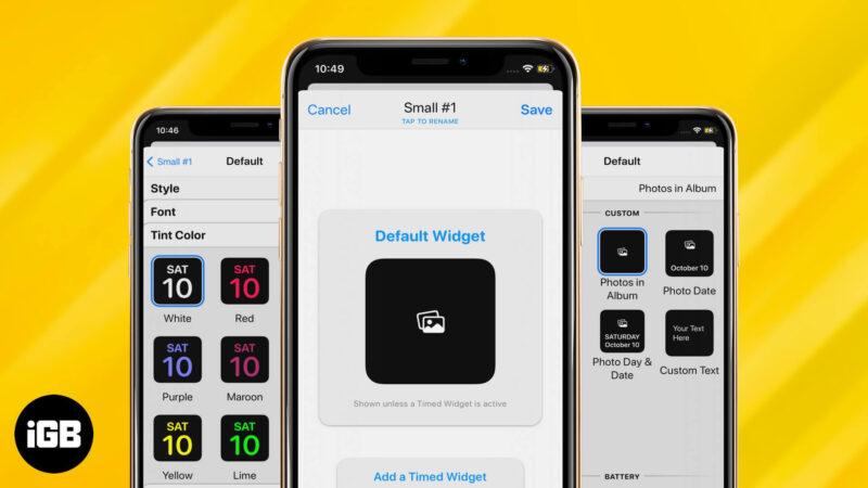 How to Use WidgetSmith to Make Custom Widgets on iPhone