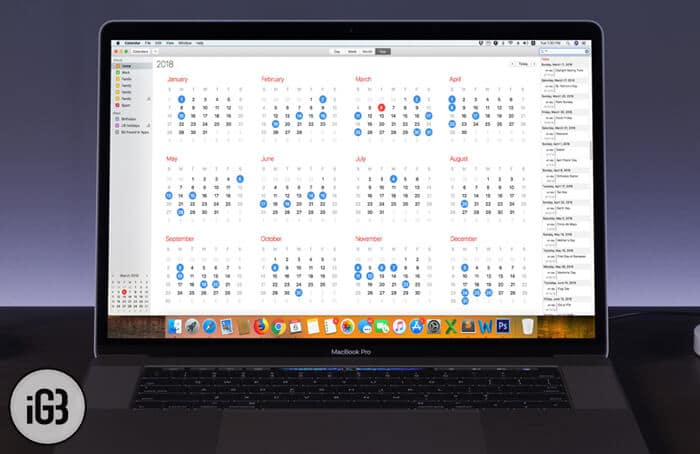 How to View Calendar Events as List on Mac