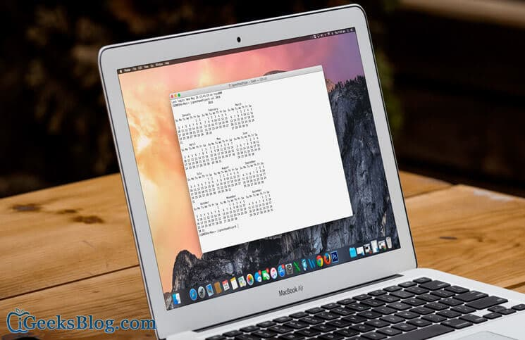 How to View Calendar on Mac Using Terminal