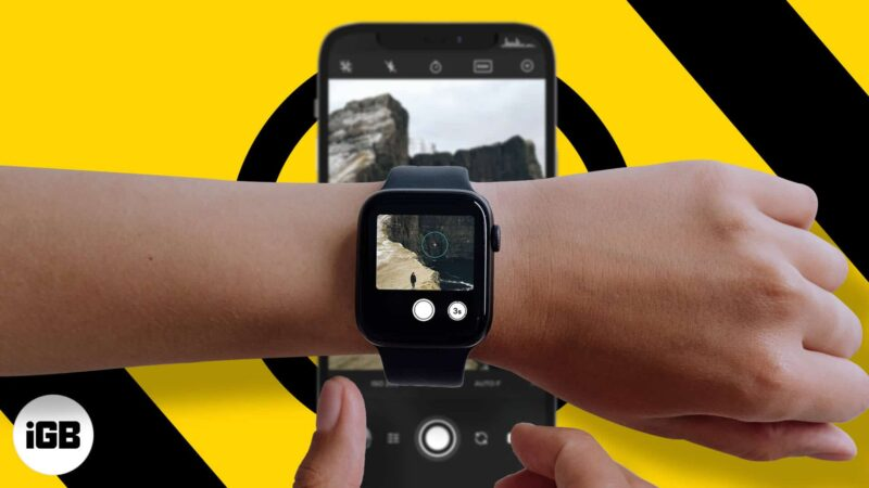 How to control your iPhone camera with Apple Watch