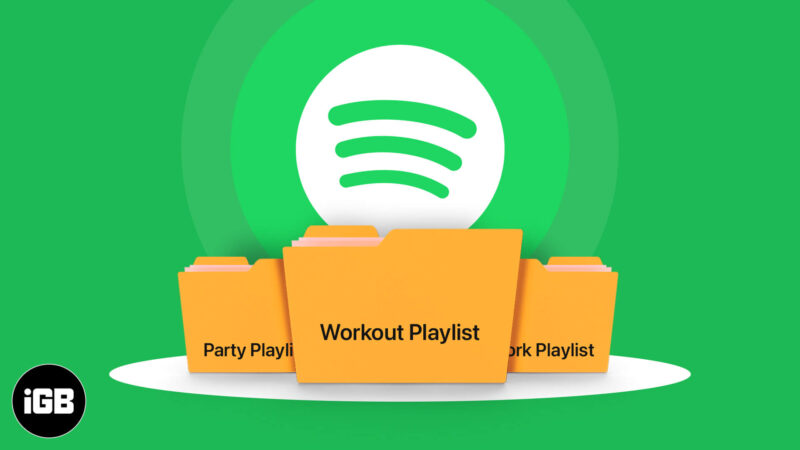 How to make playlist folders on Spotify