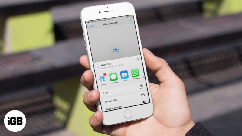 How to save an email attachment to iCloud drive on iPhone and iPad