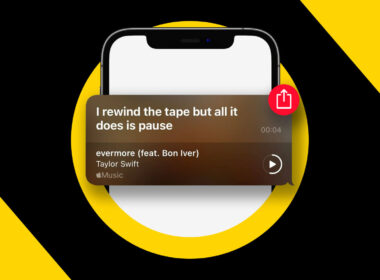 How to share Apple Music lyrics and song clips