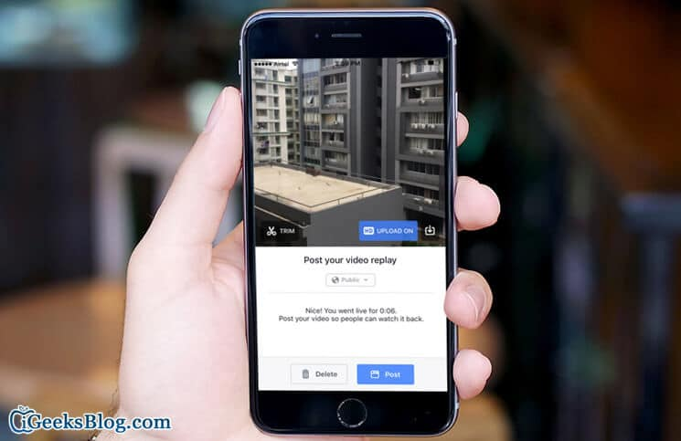 How to use Live Facebook Video on iPhone